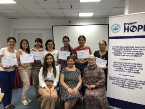 Journalists at training on TB Prevention among Children in Kazakhstan